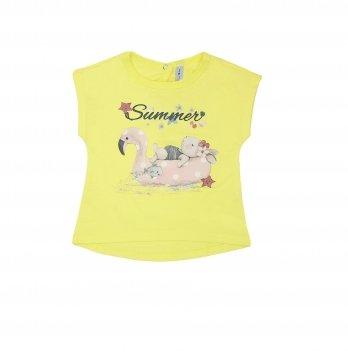 Футболка для девочки Smil Карибские каникулы Желтый 110578