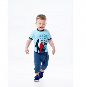 Футболка для мальчика Smil Surffriends Светло-бирюзовый 110591