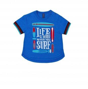 Футболка для мальчика Smil Surffriends Ярко-синий 110591