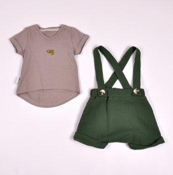 Комплект шорты и футболка для мальчика Magbaby Dave Зеленый 0-3 года