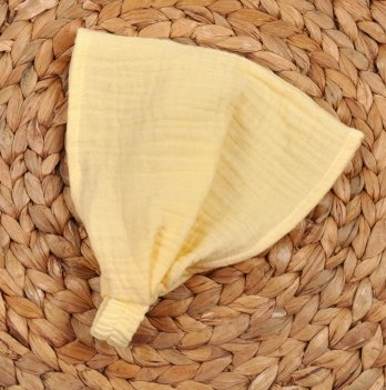 Бандана для девочки из муслина Magbaby Лимонный 3 мес - 3 года
