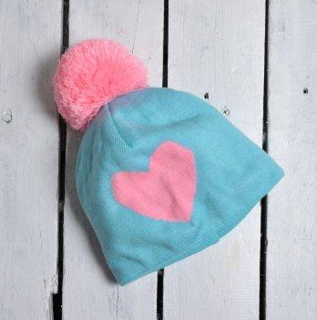 Шапка Heart Magbaby Бирюзовый Розовый