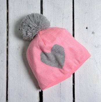 Шапка Heart Magbaby Розовый Серый