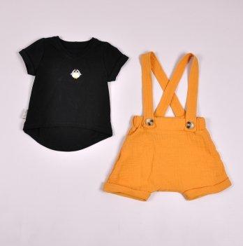 Комплект шорты и футболка для мальчика Magbaby Dave Горчичный 0-3 года