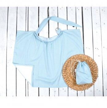 Накидка для кормления с сумочкой чехлом Magbaby Точечки на голубом 103345