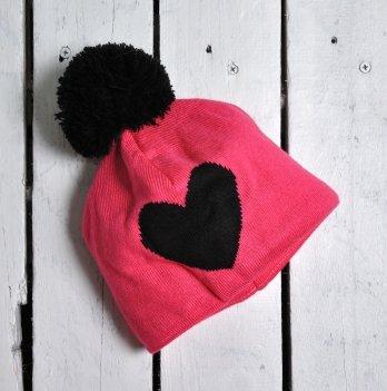 Шапка Heart Magbaby Малиновый Черный