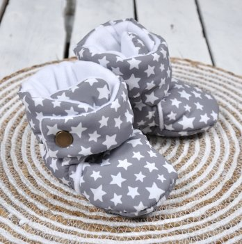 Пинетки-сапожки Magbaby Белые звезды