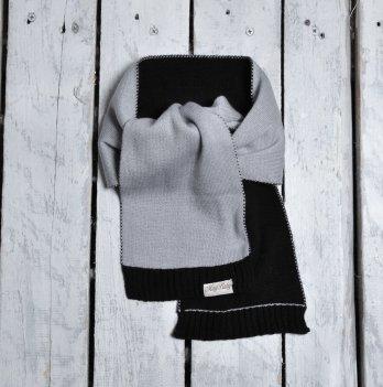 Шарф двухцветный Magbaby Серый Черный 101140