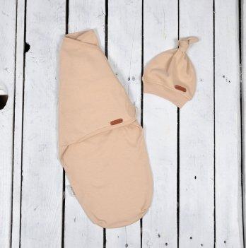 Пеленка кокон на липучках с шапочкой Magbaby Merely Бежевый