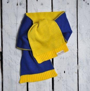 Шарф двухцветный Magbaby Синий Желтый 101141