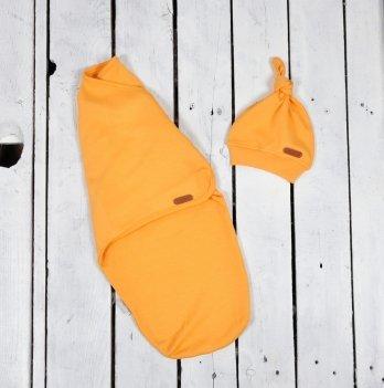 Пеленка кокон на липучках с шапочкой Magbaby Merely Желтый