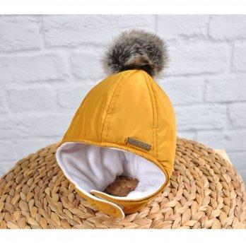 Зимняя шапка Magbaby Аляска Горчичный
