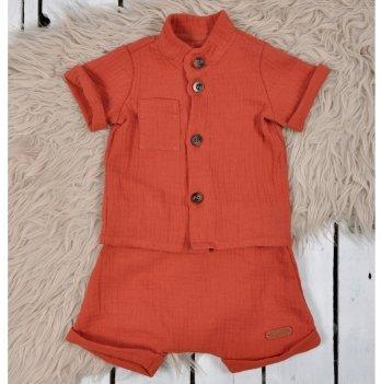 Летний костюм для мальчика из муслина Magbaby Ned Кирпичный 0-3 года