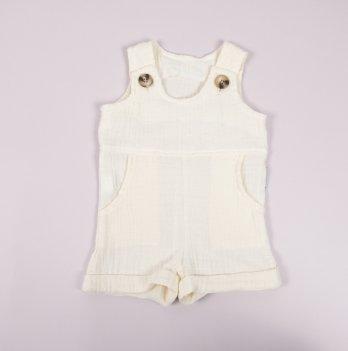 Ромпер детский из муслина Magbaby Carlson Молочный 0-2 года