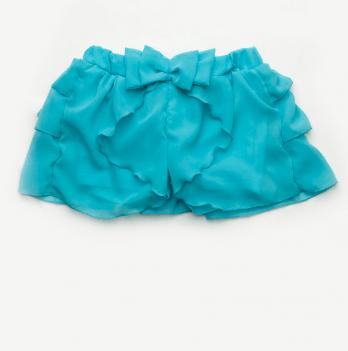 Юбка-шорты Модный карапуз, бирюзовые