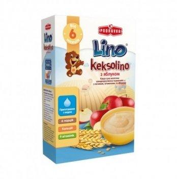 Каша пшеничная Podravka Lino Keksolino молочная, с печеньем и яблоком 200 г