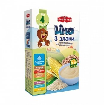 Каша 3 злака Podravka Lino с молочной смесью 210 г