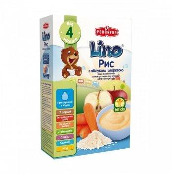 Каша рисовая Podravka Lino с молочной смесью, яблоком и морковью 210 г