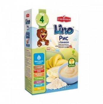 Каша рисовая Podravka Lino с молочной смесью и бананом 210 г