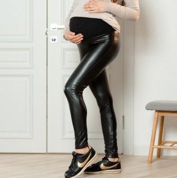 Лосины кожаные для беременных Lullababe Kol'n Черный