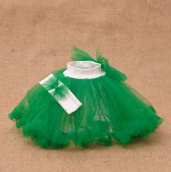 Костюм для девочки (юбка и повязка) Бетис, Веселка, зеленый