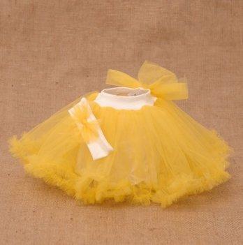 Костюм для девочки (юбка и повязка) Бетис, Веселка, желтый