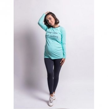 Лонгслив для беременных Zen Wear Бали Мятный