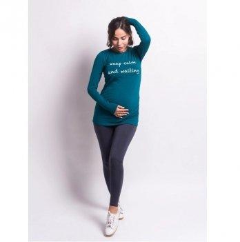 Лонгслив для беременных Zen Wear Бали Морская волна