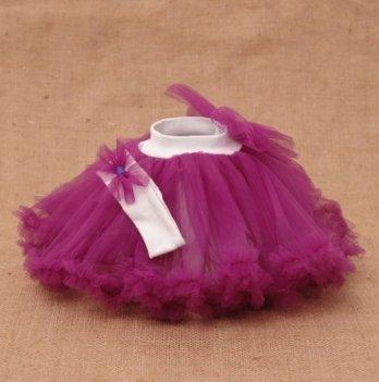 Костюм для девочки (юбка и повязка) Бетис, Веселка, фиолетовый