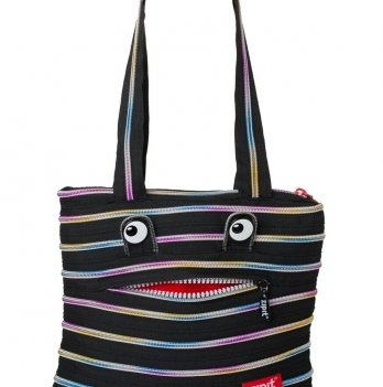 Сумка MONSTERS Tote / Beach, цвет Black & Rainbow Teeth, Zipit ZBZM-1