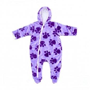 Комбинезон на подкладке DANAYA Лапки фиолетовый