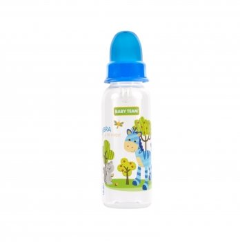 Бутылочка с силиконовой соской Baby Team 1120 синий 250 мл