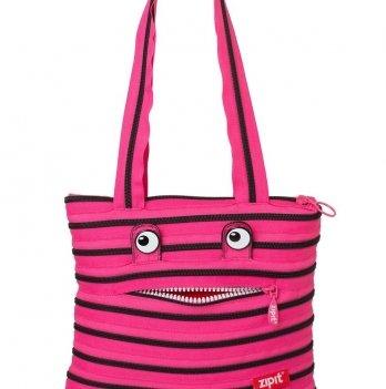 Сумка MONSTERS Tote / Beach, цвет Pink Begonia & Black Teeth, Zipit ZBZM-2