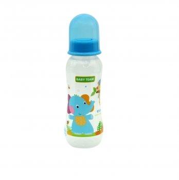 Бутылочка с талией и силиконовой соской Baby Team 1121 голубой 250 мл