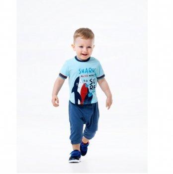 Бриджи для мальчика Smil Surffriends Синий меланж 112312