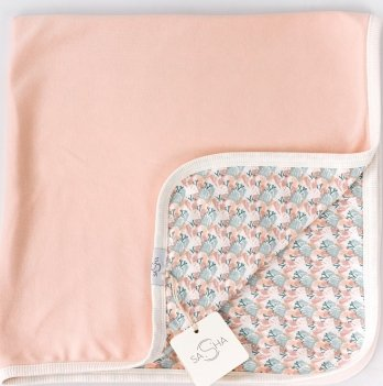 Пеленка-одеяло ТМ Sasha, персиковая