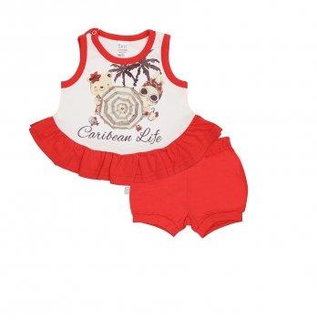 Комплект для девочки Smil Карибские каникулы Красный 113265
