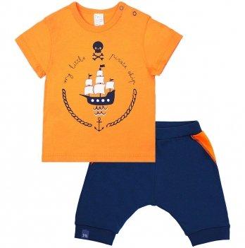 Футболка и шорты для мальчика Smil На Абордаж 113268 Оранжевый 9-18 мес