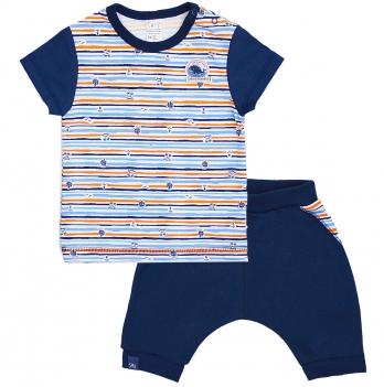 Футболка и шорты для мальчика Smil На Абордаж 113268 Синий-Рисунок 9-18 мес