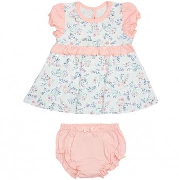 Платье для малышки и трусы Smil Прованс 113276 Рисунок На Белом 6-18 мес