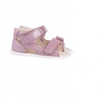Босоножки кожаные Mrugala розовые