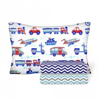 Детское постельное белье в кроватку Cosas Transport Бязь 3 предмета