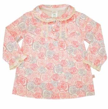 Блуза для девочки SMIL, возраст от 6 до 18 месяцев, нежно-розовая в рисунок