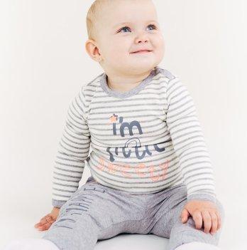 Кофта Smil от 6 до 18 месяцев серая/белая полоска