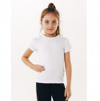 Блуза для девочки короткий рукав Smil 114637 белый
