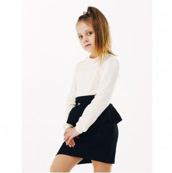 Блуза для девочки длинный рукав Smil 114639 молочный
