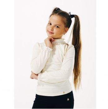 Блуза для девочки длинный рукав Smil 114641 молочный