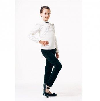 Блуза для девочки длинный рукав Smil 114644 белый