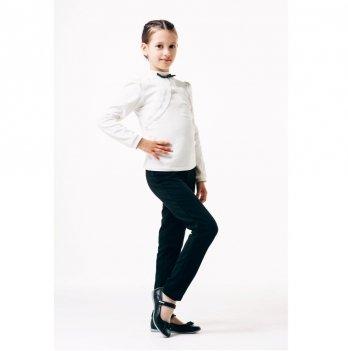 Блуза для девочки длинный рукав Smil 114645 белый