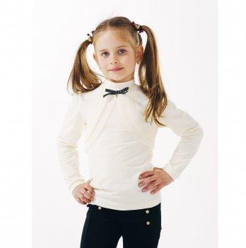 Блуза для девочки длинный рукав Smil 114645 молочный